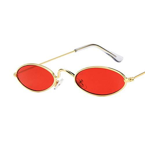 WTACK Kleine rahmen ovalesonnenbrille frauen objektiv spiegel brille legierung partei weibliche sonnenbrille uv400