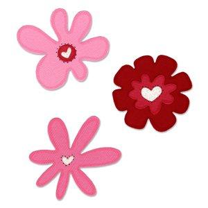 Sizzix(R) Sizzlits Die Set - Valentine Flowers by Sizzix