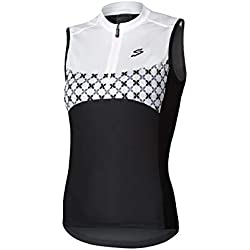 Spiuk Maillot S/M Race Mujer Negro/Blanco T. L, Talla L
