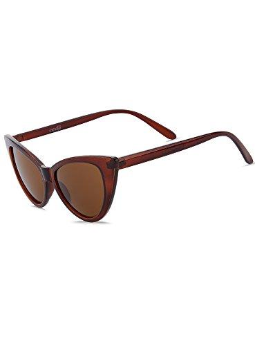 oodji Ultra Damen Katzenaugen-Sonnenbrille, Braun