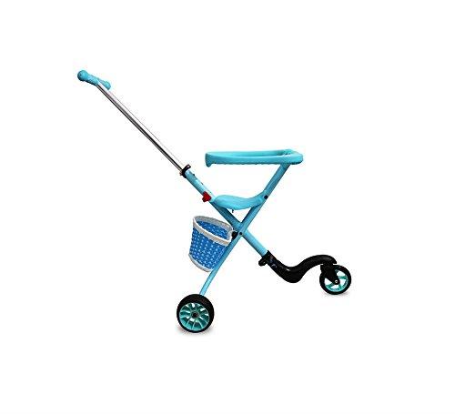 BLLz&Xdd Multifunktions kinderwagen leichte falten dreirad edelstahl antikorrosion verschleißfesten buggy pedal auto kind auto (blau)