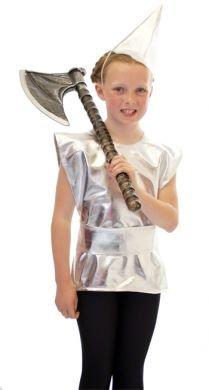 CL COSTUMES World Book Tag-Märchen-Zauberer-Oz The TIN Man TABBARD UND Hut Kostüm - Alle Altersgruppen - Wie abgebildet, 9-10 Years