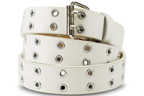 SCAMODA Cintura pelle con borchie doppio occhielli vari colori misure larghezze