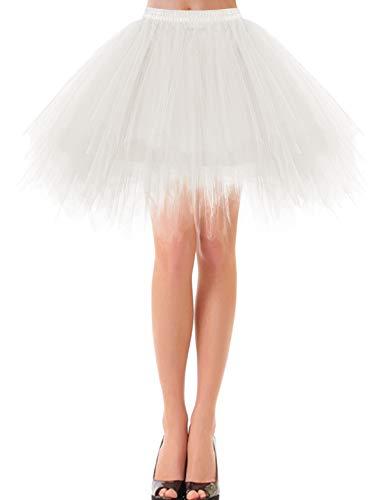 bbonlinedress Kurz Retro Petticoat Rock Ballett Blase 50er Tutu Unterrock Ivory M