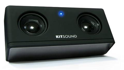KitSound - X3i Tragbarer Lautsprecher mit Akku für iPod / iPhone 3G/3GS/4 - Schwarz