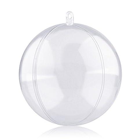 Amzdeal Boules de Noël Lot de 12, Boules de Décoration