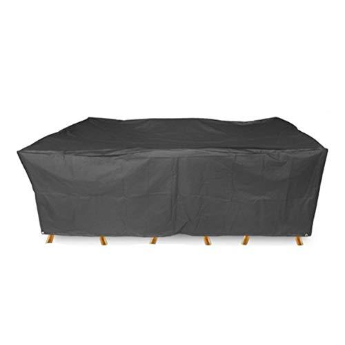 Gartenmöbel Abdeckung Wasserdichte Plane Terrasse Staubschutz Mechanischer Rost, Oxford Tuch (Farbe : SCHWARZ, größe : 270x180x89CM)