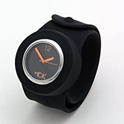 Black Tick Tok Slap Fashion Watch