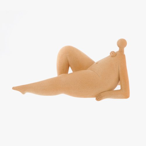"Female Figurine Modern Ceramic Sculpture Table Ornament, Handmade Style B 34cm (13"")"