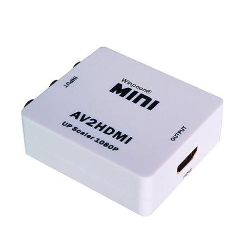 mini AV CVBS Composite Video + to HDMI Konverter skaliert bis zu 1080P
