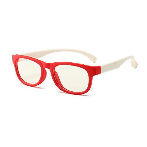 Hibote Mädchen Jungen Anti Blaulicht Brillen - Klare Linse Gläser Rahmen Geek/Nerd Brillen mit Auto Form Brillenetui - 18083010