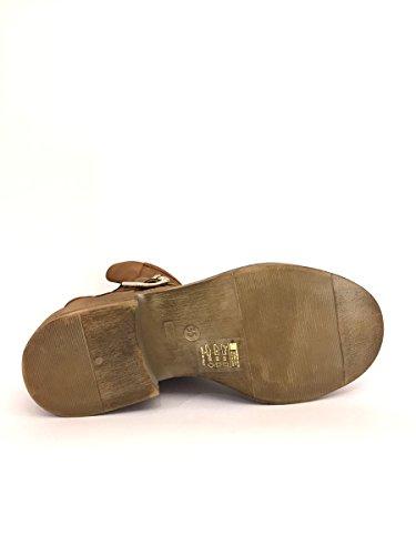 Stivali DV3019-24 Divine Follie in pelle camoscio tacco medio MainApps Cuoio