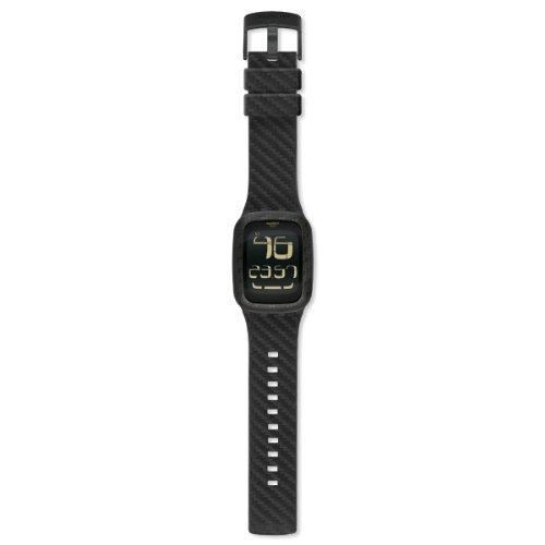 Swatch Orologio Unisex Digitale al Quarzo con Cinturino in Silicone – SURB110