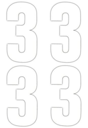 Numéro 4 x 3 Stickers pour poubelle à roulettes