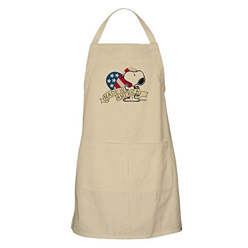 in America Snoopy–Küche Schürze mit Taschen, Grillen Schürze, Backen Schürze khaki (4. Juli Waren)
