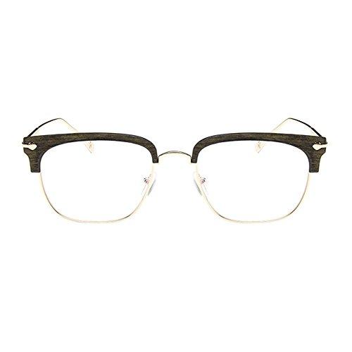 Haodasi Grün Retro Hälfte Rahmen Kurzsichtig Eyewear, Frauen Männer Kurzsichtige Brillen Kurzsichtigkeit Goggles Spectacles Brille -2.75 Stärke