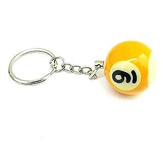 (NR.9) Schlüsselanhänger mit Anhänger - Billardkugel - Anzahl - Pool Billard - Geschenkidee - Mann - Frau - Unisex