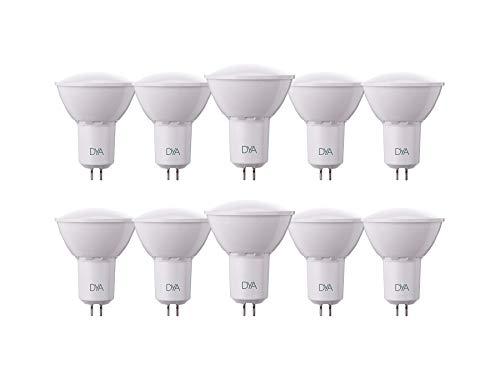 Juego de 10Bombillas LED Spotlight GU5.3Dya Ø50x 63, 6W 540lúmenes, luz cálida 3000K °