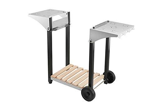 Roller Gril R.CHPS600 Desserte pour Plancha 600 Inox / Bois