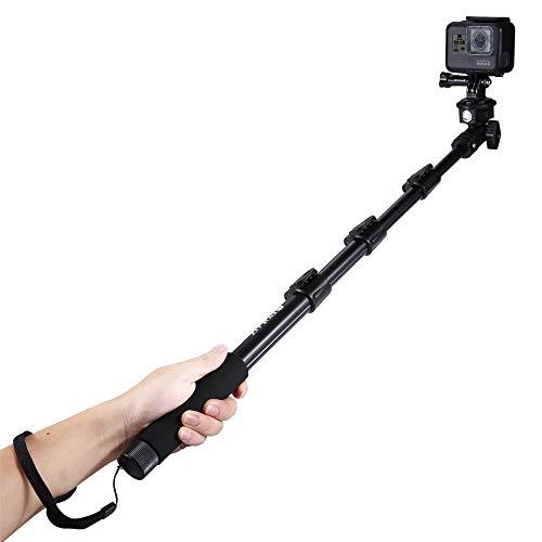 Bâton Selfie professionnel haut de gamme pour smartphones de toutes tailles - Prenez un selfie en quelques secondes pour obtenir la photo HD parfaite sans batterie