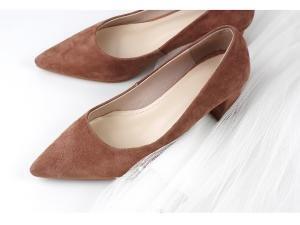 hexiaji 22cm-24.5ccm chaussure femme chaussure talon bas chaussure blanche verte rose brun Rouge