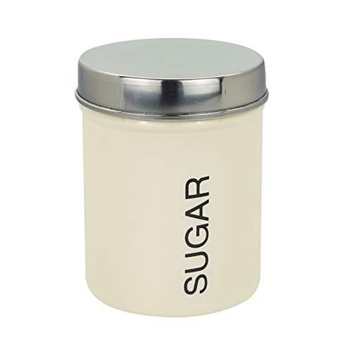 Lot de blanc rond géométrique Thé Café Sucre Boîtes de Stockage Pots conteneurs