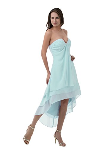 Bridal_Mall - Robe - Sans Manche - Femme Bleu - Bleu