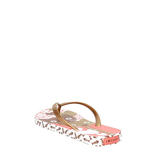 Ipanema 81773 21241 Tongs Femme Blanc/Or