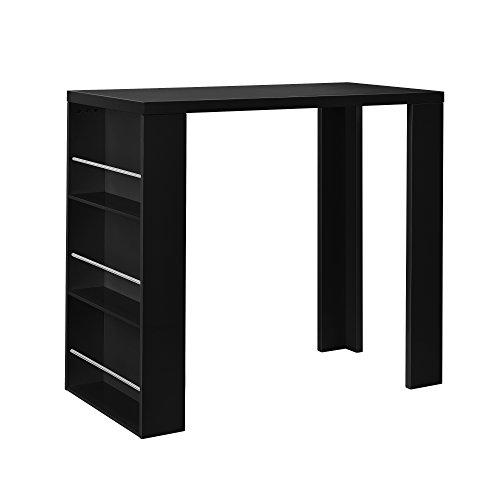 Tavolo da bar / bancone bar e bar da casa con 3 cassetti nero opaco MDF laccato