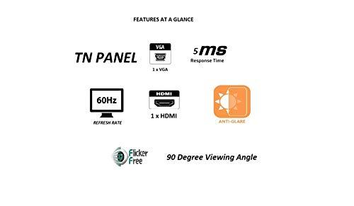7. LG 19 inch HD Ready Monitor, TN Panel with VGA, HDMI Ports - 19M38HB (Black)