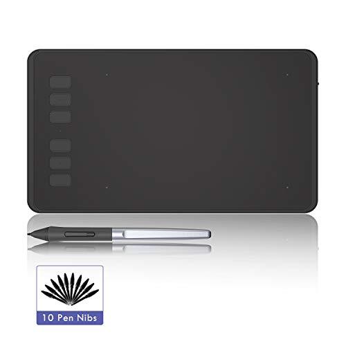 HUION INSPIROY H640P Grafiktablett mit 8192 Stufen Batterieloser Stift und 6 Funktionstasten
