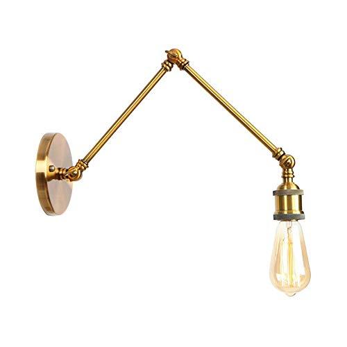 Oevina Modern Retro Wandleuchte Lampe verstellbar Swing Arm Wandleuchte, E27 Lampenfassung Antique Wall Light-Bronze A (Color : Bronze, Size : A) -