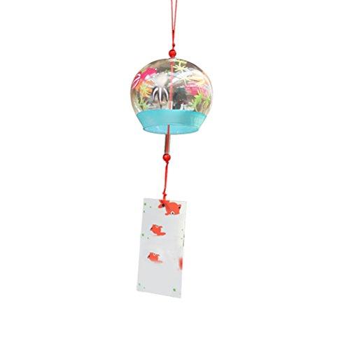 Vosarea Japanisches Glas Wind Chimes Hanging Wind Chime Anhänger Label Chimes Wind Glocken (Fisch)