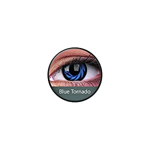 Kontaktlinsen Festive ohne Stärke Phantasee Modell Fancy Lens 14mm Blue Tornado