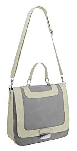 EyeCatchBags - Naira Damen Schultertasche Messenger Bag aus Kunstleder, grau Grau