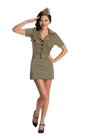Secret Wishes 40s G.I. Girl, Army Green, Medium