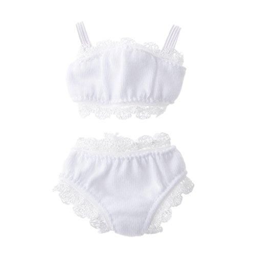 MagiDeal 1:6 Spitze-Unterwäsche Anzug Für Puppen Puppenkleidung Zubehör Weißer
