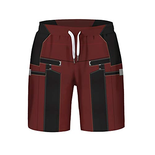 Henxizucun Outdoor Sports Beach Shorts für Herren Swim Quick Dry Leichte Freizeithose Mit Tasche Laufsporthose für Workout Jogging Training,A,S