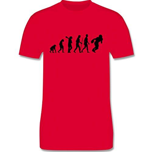 Evolution - Football Evolution - Herren Premium T-Shirt Rot