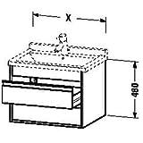 Duravit Waschtischunterschrank wandhängend Ketho 465x650x480mm 2 SchKa, für 030470, graphit matt, KT