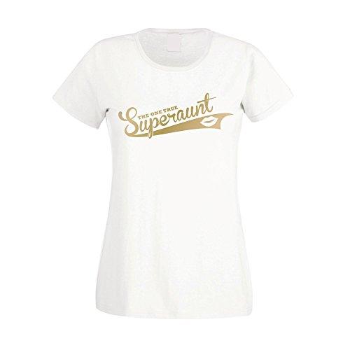 ... Damen T-Shirt - The one true Superaunt - von SHIRT DEPARTMENT  schwarz-weiss