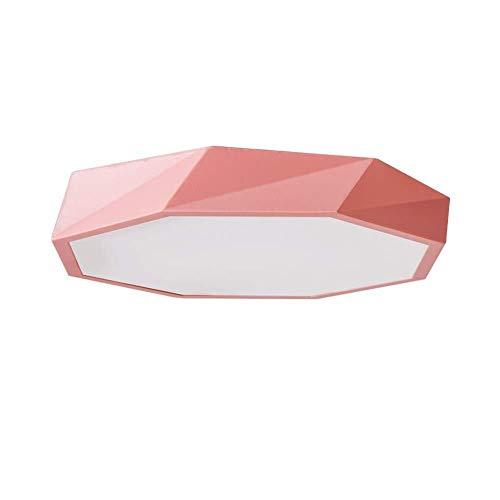 ZHAO YING Ultradünne Deckenleuchte LED 36w, 20 Zoll Moderne Deckenleuchte Unterputz Kinderzimmer Esszimmer Wohnzimmer (Color : Pink, Size : 30x6cm) -