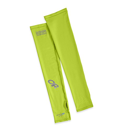 Outdoor Research Active Ice Sun Sleeves, Damen Unisex Herren, Gelb (Lemongrass), L-XL -