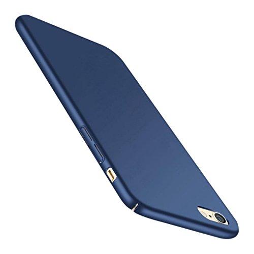 Ouneed® Für iPhone 8 4.7 Zoll Hülle , Anti-Scratch Hochwertigem Hülle Fein Matt Stoßfest Schutz Hard Case Cover für iPhone 8 4.7 Zoll (Rot) Blau
