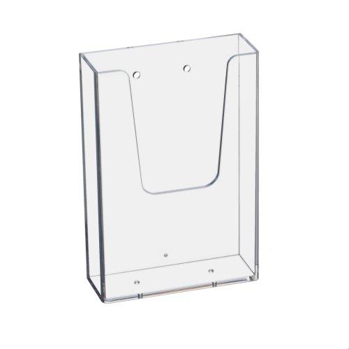 Prospekthalter Wand Din Lang (99x210mm) Hochformat/Flyerhalter transparent
