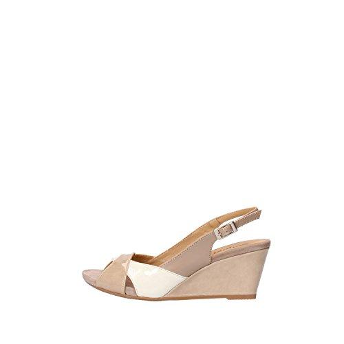 CALPIERRE sandali donna beige pelle bianco vernice AG723 (39,5 EU)