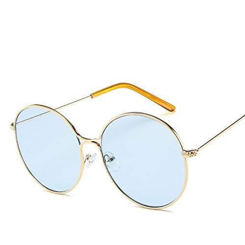 Sonnenbrille, rund, Metall, hohl, Retro-Stil, Punktlack, Sonnenbrille Europa und das Ozean, Sonnenbrille Rosa wie abgebildet