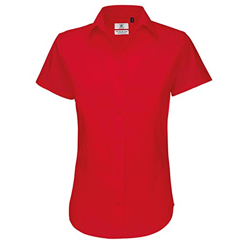 B&C Collection - Chemisier - Moderne - Femme rouge profond