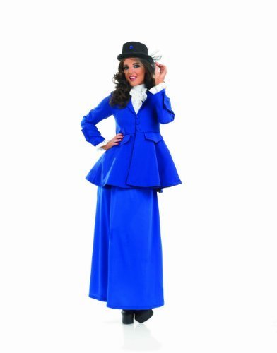 Dress Fancy Kostüme Großbritannien (VICTORIAN LADY Adult Fancy Dress Costume All)