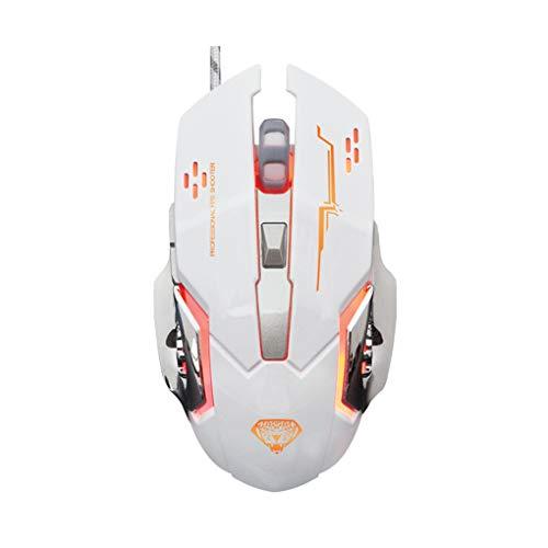 plzlm G502 USB Wired Mouse Computer-Gaming Mäuse Einstellbare 3200DPI Breathing Licht Optische PC Desktop Spiel Mäuse (Windows-usb-installer)